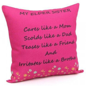 Printed Cushion For Sister - Cushions
