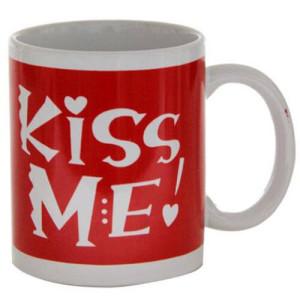Kiss Me Ceramic Mug - Kiss Day Gifts Online