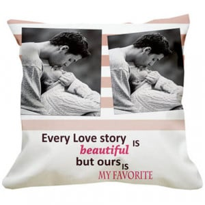 Favourite Love Story Cushion - Propose Day Gifts Online