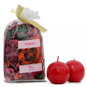 Potpourri And Candle Combo - Send Gifts to Chandigarh