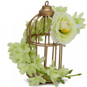 Cage and Flower Arrangement