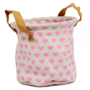 Pink Heart Bag Planter - Online Gift Ideas