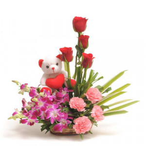 Sweet Inspiration - Flower Basket Arrangements Online