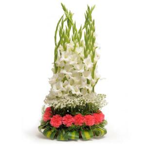 The Precious Heart - Flower Basket Arrangements Online