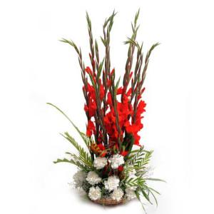Be Mine - Flower Basket Arrangements Online