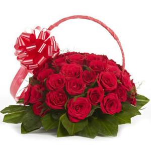 Graceful Grandeur 30 Red Roses - Kiss Day Gifts Online