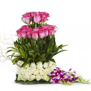 The Sweet Surprise - Send Best Flowers Arrangement Online