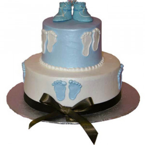 Round Baby Shower Cake - Send Baby Shower Cakes Online