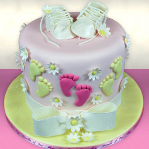 Yellow Baby Bum Baby Shower Cake - Send Baby Shower Cakes Online
