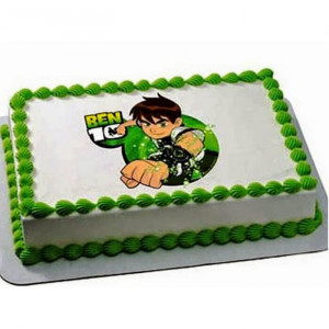 Ben 10 Photo Cake - Send Baby Shower Cakes Online