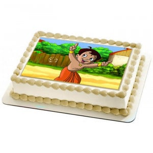 Chhota Bheem Photo Cake - Send Personalised Photo Cakes Online