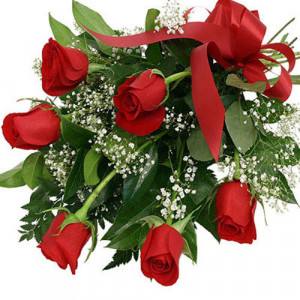 Bunch Of 6 Red Roses