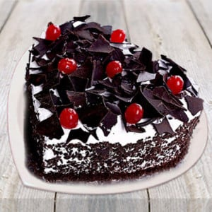 Heart Shape Black Forest Cake - Online Cake Delivery in Kurukshetra