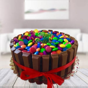 Kit Kat Gems Cake - Send Wedding Cakes Online