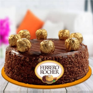 Ferrero Rocher Chocolate Cake - Send Cakes to Sonipat