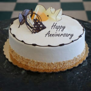 Heartfelt Anniversary Cream Cake - Birthday Gifts for Her