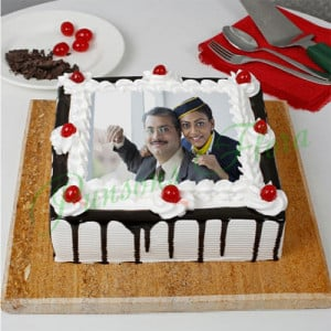 The Black Forest Special Fathers Day Photo Cake - Send Cakes to Sonipat
