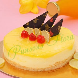 Zesty Lemon Cheesecake - Send Wedding Cakes Online