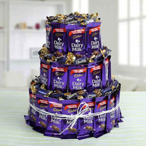 3 Layer Chocolaty Wishes - Chocolate Bouquet Online