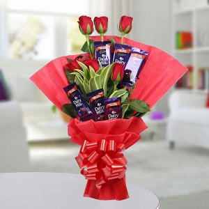 Chocolate Rose Bouquet - Online Flower Delivery In Kurukshetra