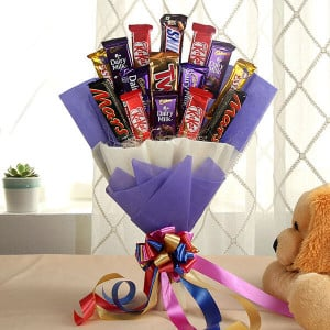 Blazing Choco Bouquet - Chocolate Bouquet Online