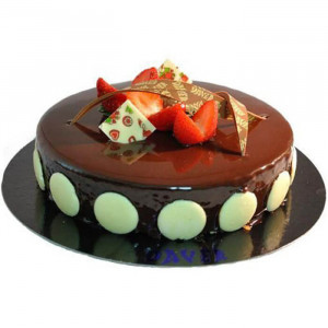 Chocolate Truffle Round Cherry Cake