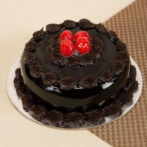 Round Shape Chocolate Truffle Cake - Cake Delivery in Mumbai