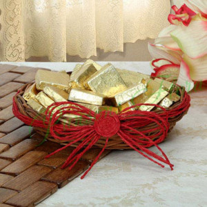 Golden Choco Basket - Online Gift Ideas