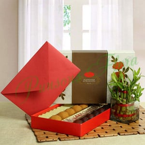 Good Luck with Assorted Sweets - Online Flower Delivery In Kurukshetra