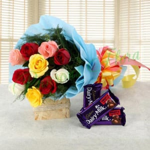 Love Gets Chocolaty - Online Flower Delivery In Kurukshetra