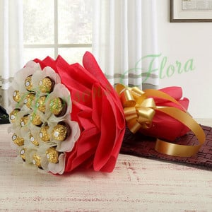 Rocher Choco Bouquet - online flowers delivery in dera bassi