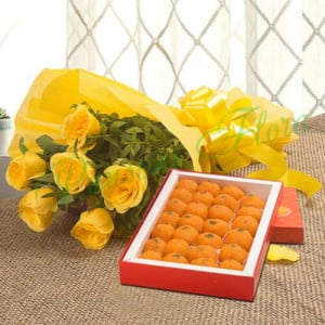 Roses N Ladoo - Mothers Day Gifts Online