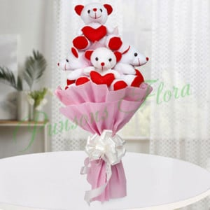 Teddy Bouquet - online flowers delivery in dera bassi