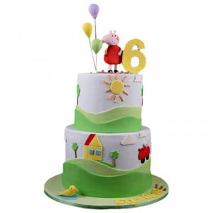 Peppa Pig House Cake - Birthday Cake Online Delivery