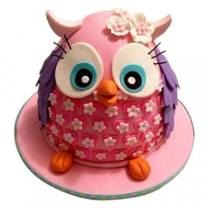 Pinki The Owl Cake - Birthday Cake Online Delivery