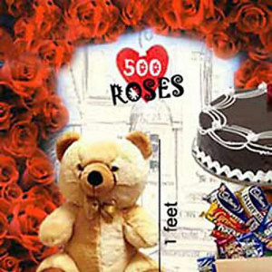 500 RosesLove Special - Hug Day Gifts Online