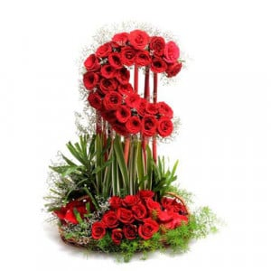 Love With Moon 50 Red Roses - Kiss Day Gifts Online