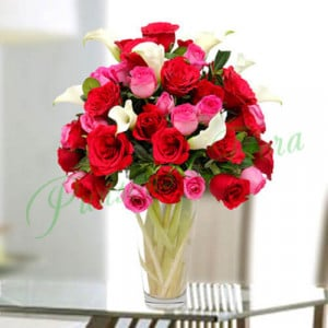 Sweet Emotions in Vase - online flowers delivery in dera bassi