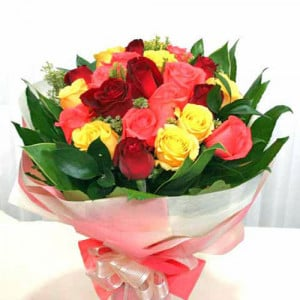 12 Short Stem Mixed Roses - Propose Day Gifts Online