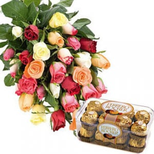 Mixed Roses N Ferro - Flowers and Cake Delivery
