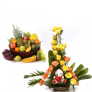 Timeless Symbol - Flowers with fresh fruits online