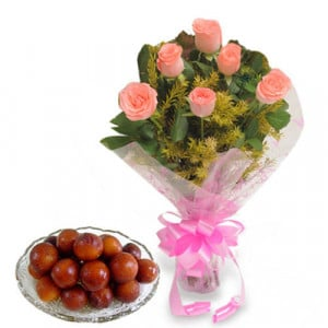 Roses N Sweets - Flowers with Sweets Online