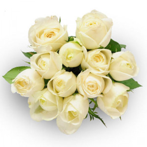 Always And Forever 12 White Roses - Send Valentine Gifts for Her