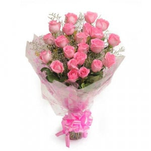25 Pink Roses - Send Flowers to Belur Online