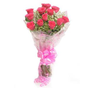 Pink Blushes - Flower Bouquet Online
