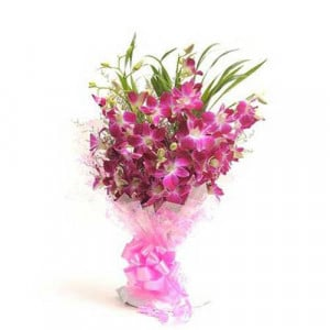 Perfect N Elegance 6 Purple Orchids - Send Valentine Gifts for Wife