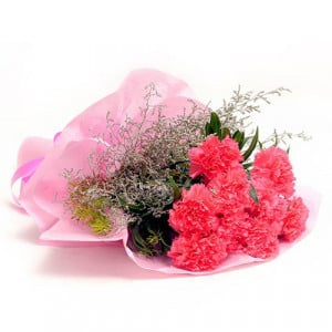 Pink Carnations N Love - Send Valentine Gifts for Wife