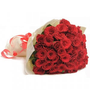 Red Hot 50 Roses - Send Valentine Gifts for Her