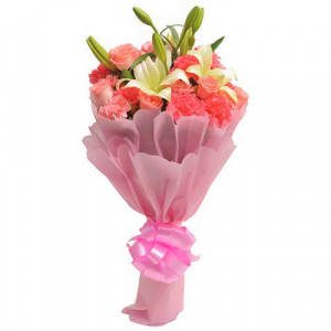 Carnations N Lilies - Flower delivery in Bangalore online