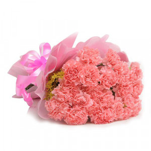 15 Pink Carnations - Send Valentine Gifts for Her